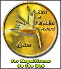 Axiom Bird of Paradise Award
